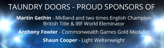 TAUNDRY DOORS PROUD SPONSORS OF Anthony Fowler Commonwealth Games Gold Medalist and Shaun Cooper